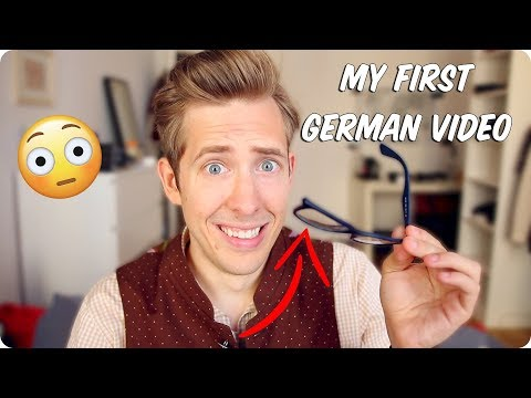 My First Video in German! Embarrassing Story with English subtitles!   Evan Edinger