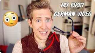 My First Video in German! Embarrassing Story with English subtitles! | Evan Edinger