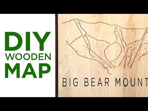 DIY Wooden Map / No CNC | 37