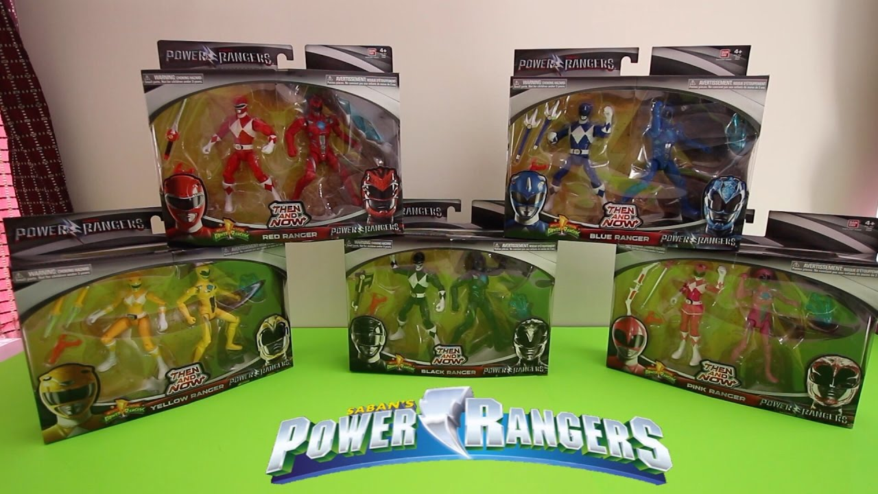 Power Rangers Then And Now All 10 Action Figures Toys Youtube