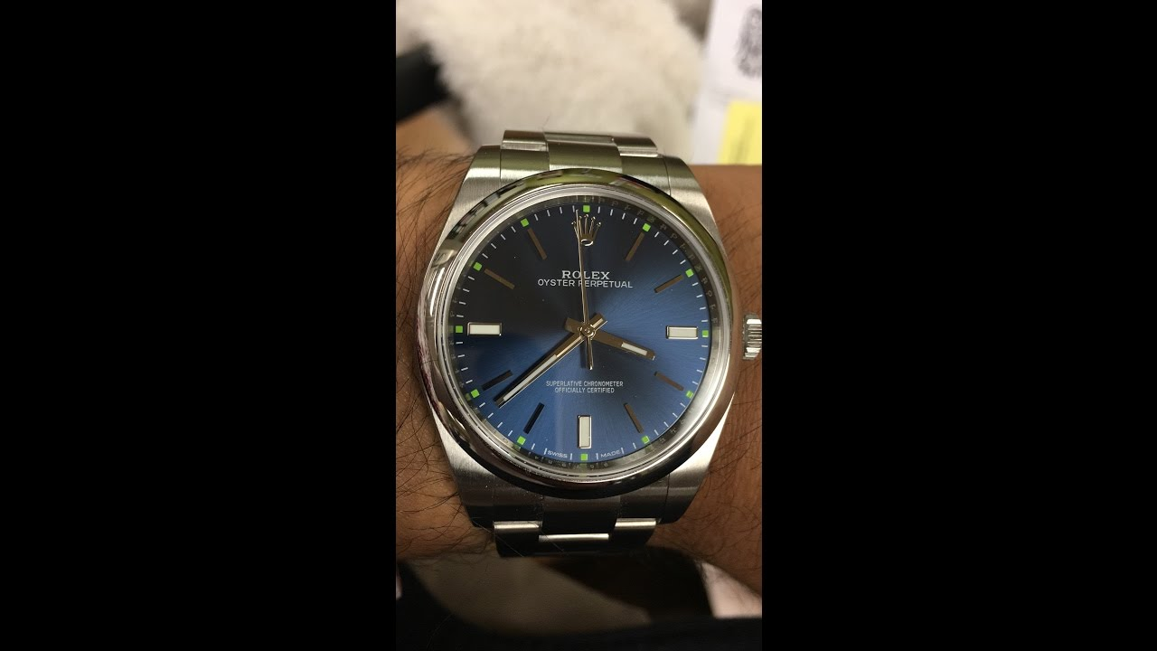 Rolex oyster perpetual ref 114300 39 mm Blue Unboxing