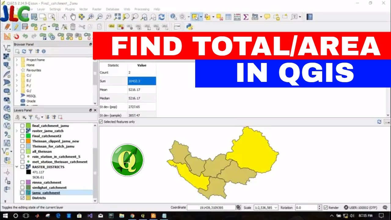 [QGIS]- FINDING/MEASURING AREA/TOTAL AREA OF POLYGON IN QGIS
