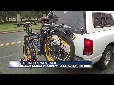 Driver hits man on bike on Detroit's west side