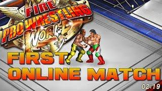 Fire Pro Wrestling World! (1st Online Match!) + Review