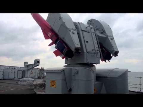 HMS Edinburgh Sea Dart Lowering.