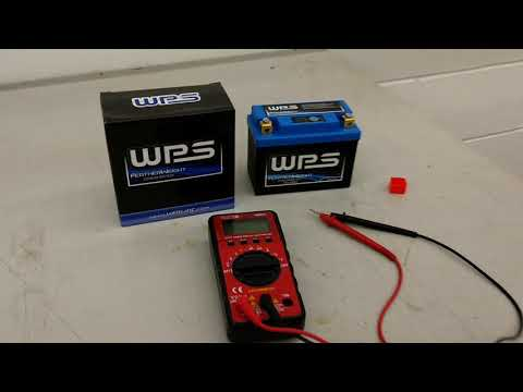 WPS lithium battery voltage test for TW200
