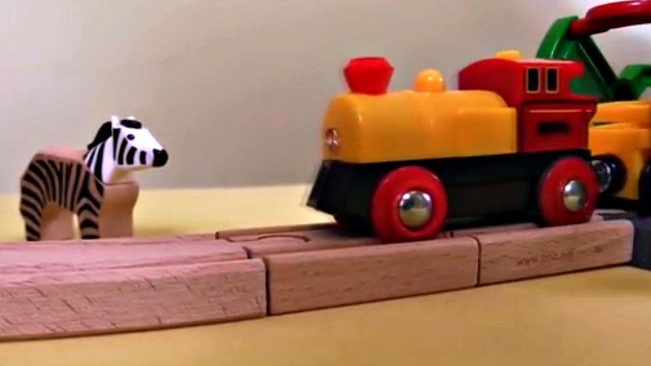 Kinderfilm spielzeug aus holz auf dem bauernhof brio