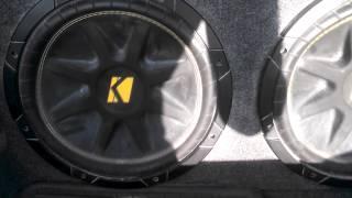 """2 12"""" kicker comps 1200 watt amp"""
