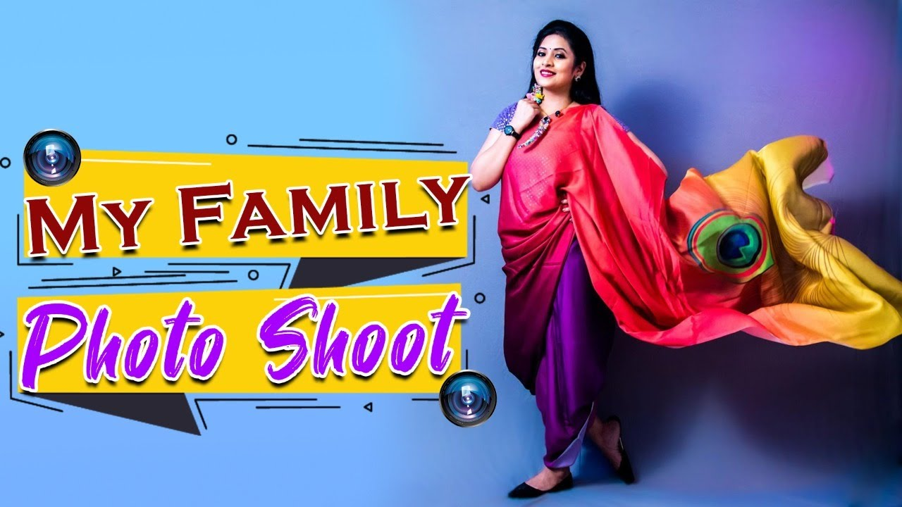 My Family Photoshoot at home| different dresses and saree styles | Vlog | Sushma Kiron