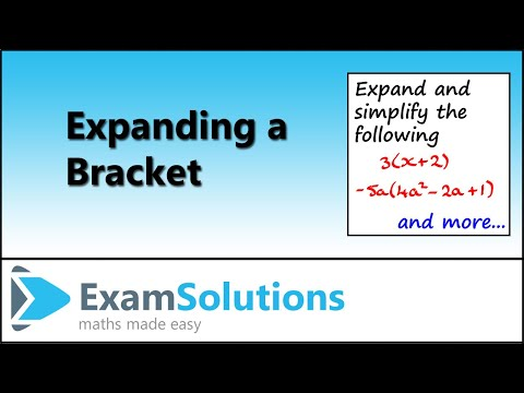 Expanding a Bracket : ExamSolutions Maths Revision