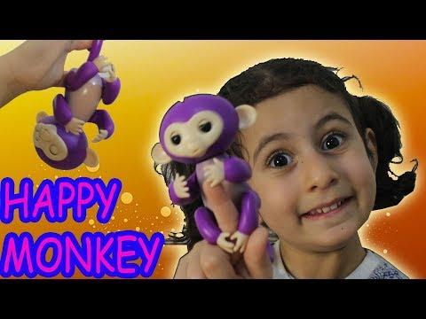 MONKEY HAPPY - Parler, réagir singe doigt. - Jouets Unboxing