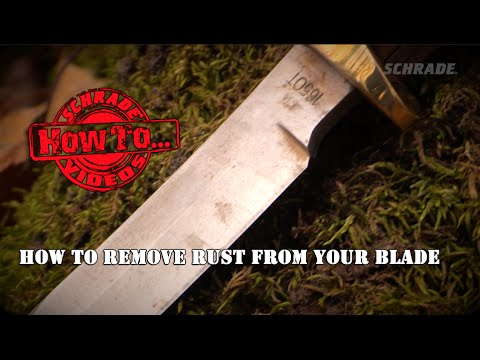 How To Remove Rust From a Knife Blade