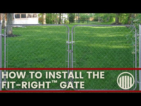 Fit-Right Adjustable Chain Link Gate