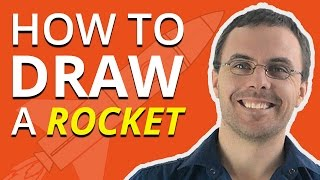 How to Draw a Rocket Ship Tutorial
