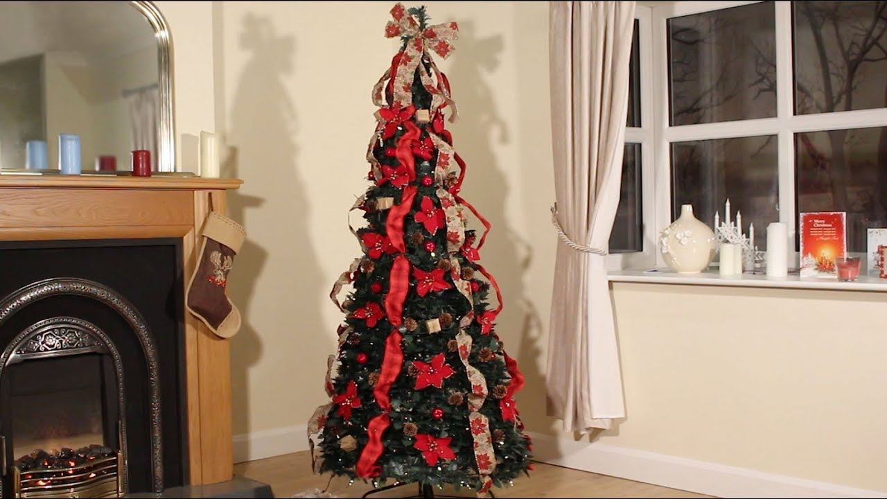 Pop Up Pre Decorated Christmas Tree - YouTube