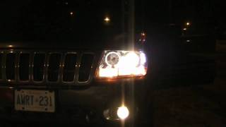 projector halo fog lights on a 2003 wj jeep grand cherokee overland