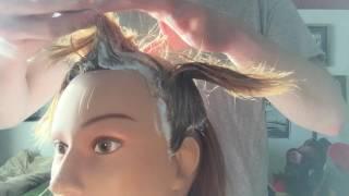 ASMR | Bleaching a Mannequin's Hair Blonde | Color Applicaion thumbnail