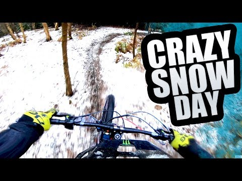 CRAZY SNOW DAY - DRIFTING, MTB AND SNOWBOARDING!