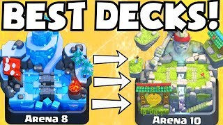 Clash Royale BEST DECK FOR ARENA 8 ARENA 10 DECKS UNDEFEATED | BEST ATTACK STRATEGY TIPS F2P PLAYERS