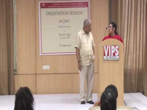 Orientation Session of Vivekananda School of Journalism and Mass Communication by Dr. S.C. Vats