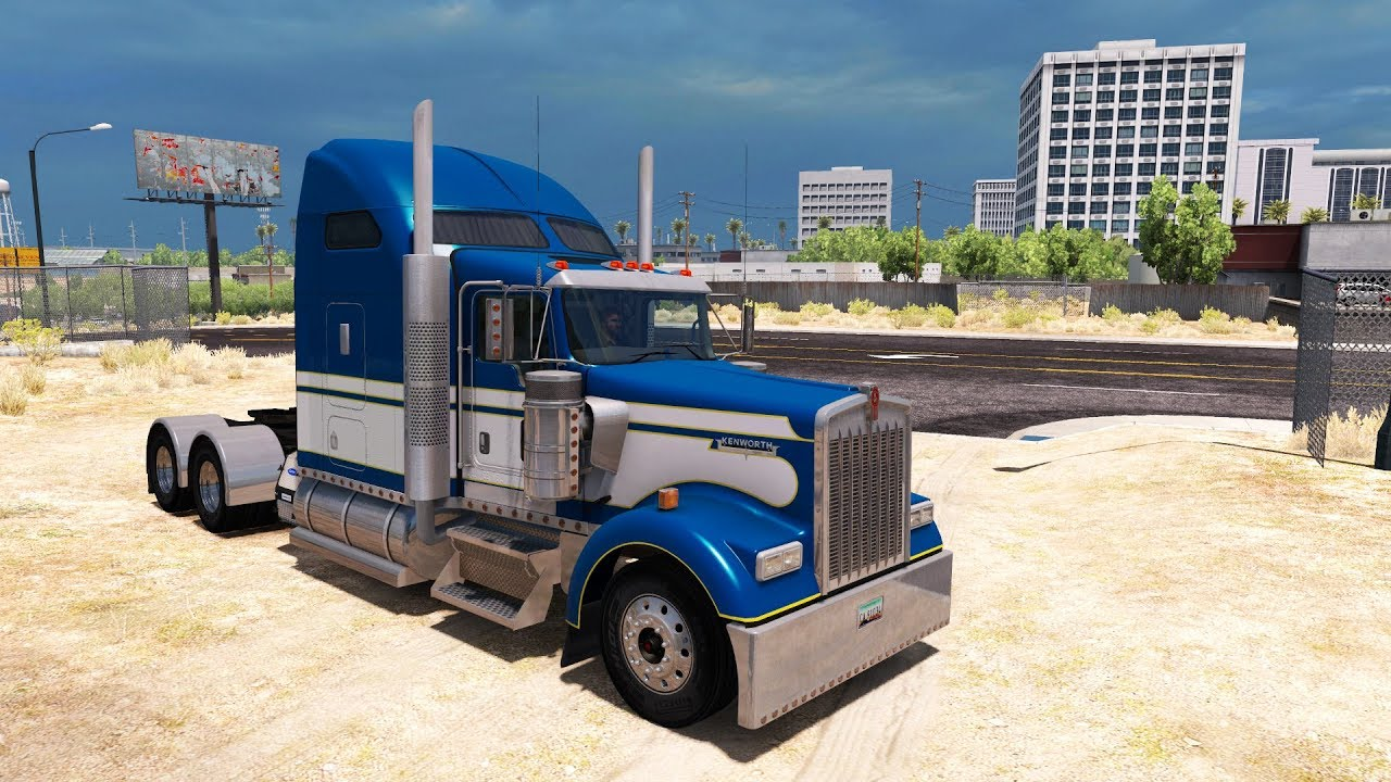 Kenworth W900 Big Bob | Ruta por Zacatecas, México | American Truck  Simulator | Doble trailer