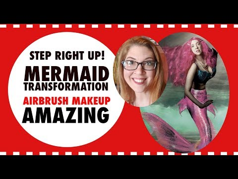 HOW TO BECOME A MERMAID | AIRBRUSH MAKEUP | MERMAIDS | TRANSFORMATION | BEFRE AND AFTER | MAKE WAVES