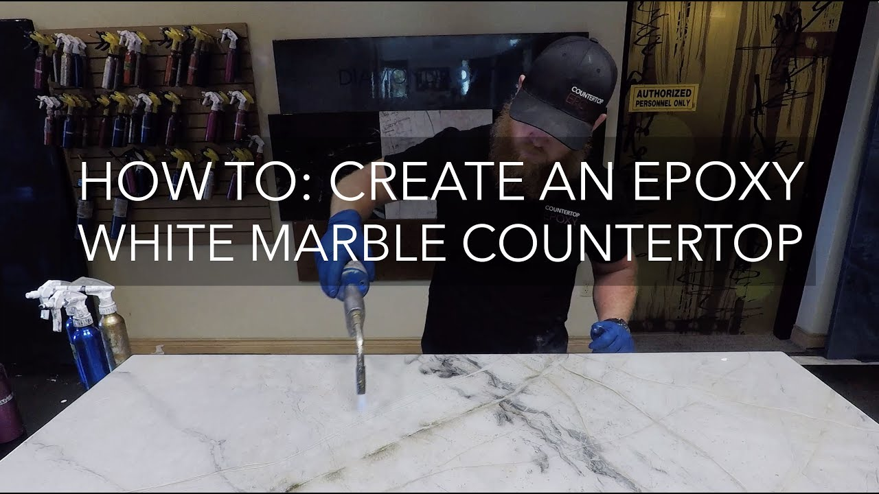 Countertop Epoxy How To White Marble Epoxy Countertop