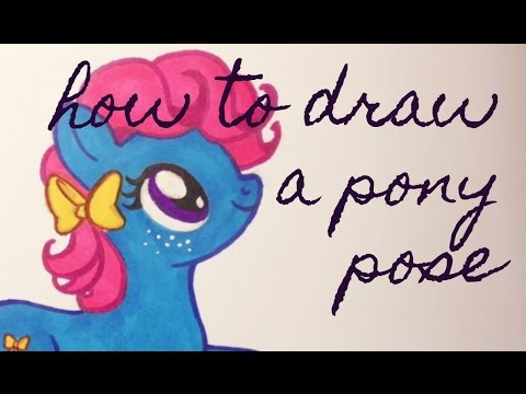 How To Draw Pony Poses Laying Down And Side Profile Youtube