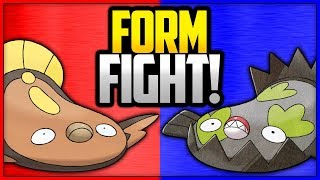 Stunfisk vs Galarian Stunfisk | Pokémon Form Fight (Sword & Shield) [4K]