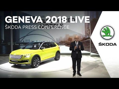 GENEVA 2018 LIVE: ŠKODA press conference