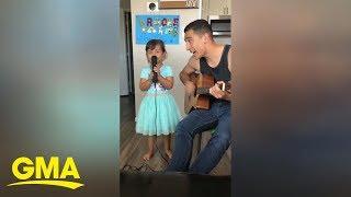 Father-daughter duo perform sweet 'Senorita' cover l GMA Digital