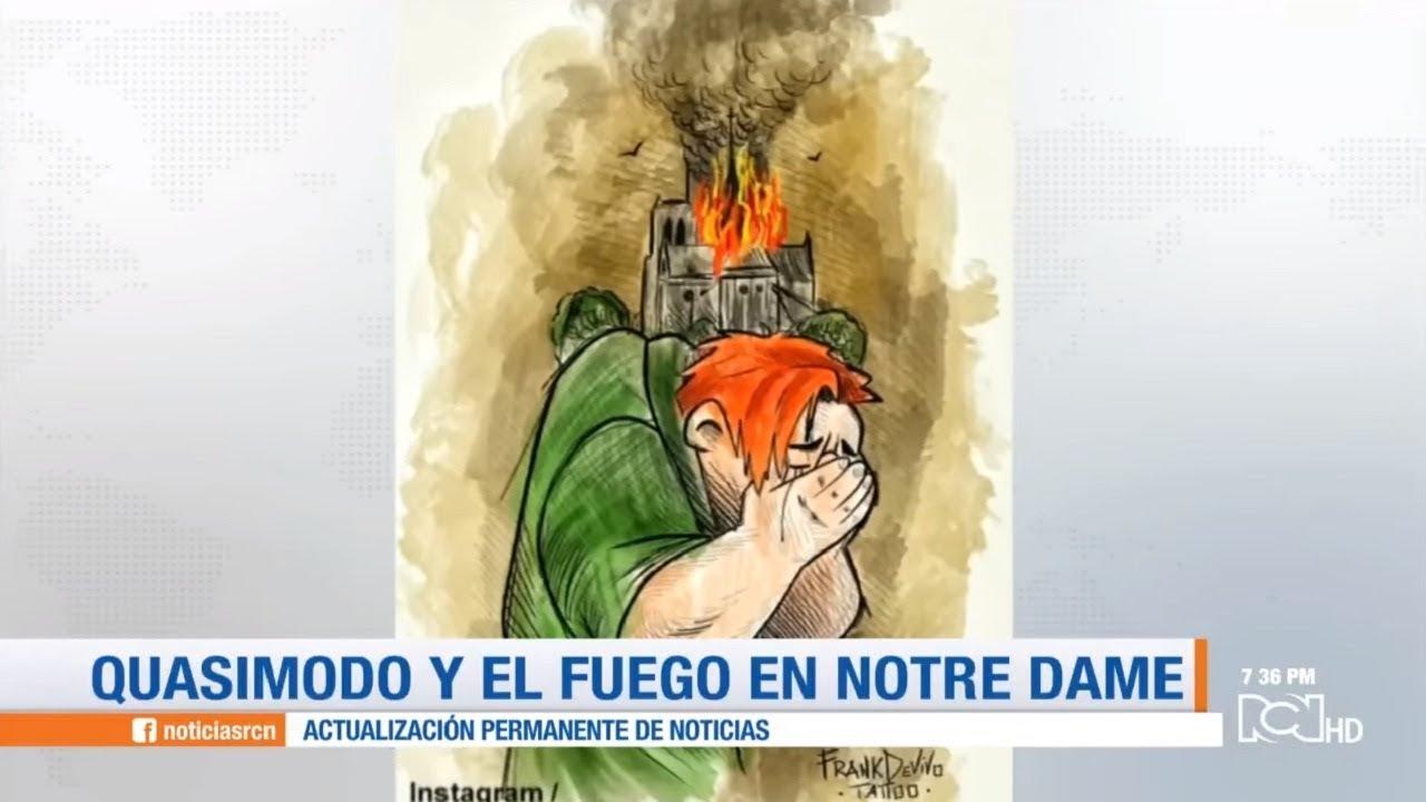 Resultado de imagen de Las redes lloran por Notre Dame con las ilustraciones