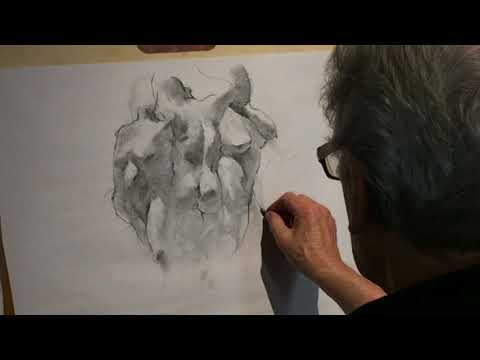 Charcoal Figure Drawing Demo - Female - Two Models Figure and Portrait Studies by Steve Carpenter