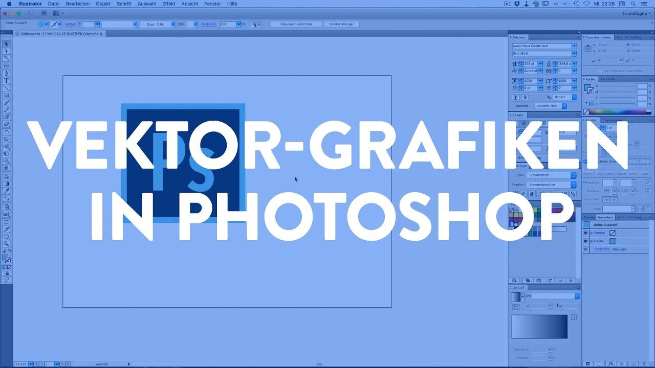 vektorgrafiken als smartobjekt in photoshop youtube stier vektor harley davidson schriftzug