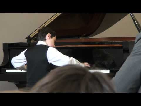 """Theodore Mihai Mezei playing """"Cristian Bence Muk's - N-am chef sa studiez"""" at Nice piano competition"""
