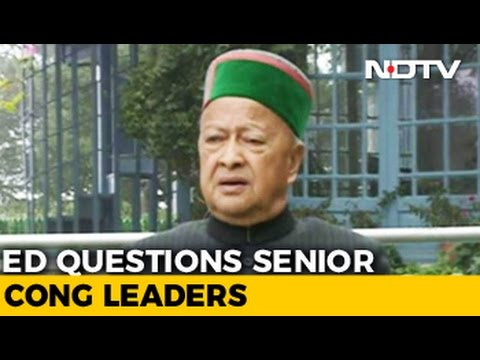 Virbhadra Singh Questioned For Over 9 Hours In Money Laundering Case