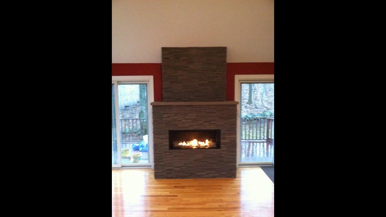 arlington contemporary stone fireplace youtube