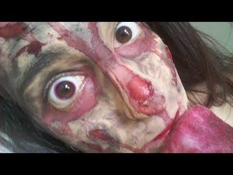 ASMR en Español | 🔥 SFX Self-Makeup 🔥 | Fire Wounds | Hair Dryer Sounds