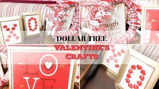DOLLAR TREE DIY | VALENTINE DECOR | EASY VALENTINE CRAFTS