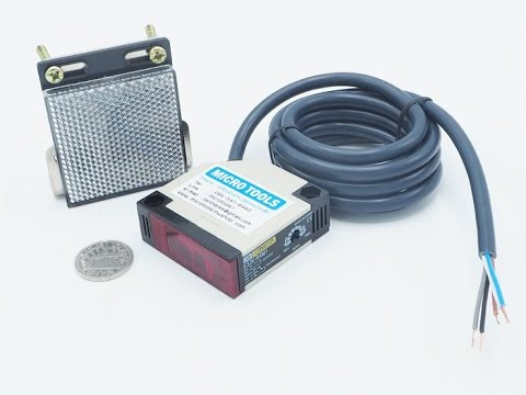 ใช้งานเซนเซอร์ชนิด Photoelectric Sensor ชนิด Reflextive (แบบมีกระจกสะท้อนภาพ)
