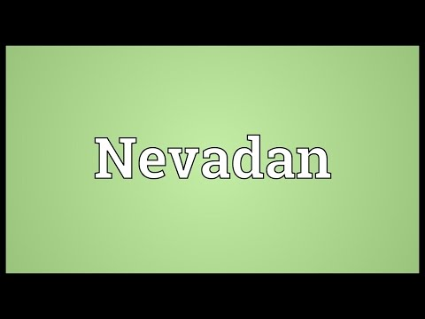 Nevadan Meaning
