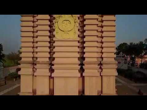 Dharo Jagannatha Dharo Hare with Thennangur temple's Ariel view