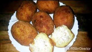 চিকেন দিয়ে আলুর চপ/Chicken potato chop রেসিপি।