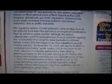 CRS -- Clean Air Issues in the 112th Congress (Clean Air Act) EPA/Obama Admin
