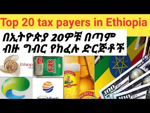 Top 20 tax payers in Ethiopia/ tax payers in Ethiopia/ Abel berhanu