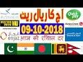 Today Saudi Riyal Currency Exchange Rates - 09-10-2018 | Tahweel al Rajhi | Enjaz | Fawri | NCB