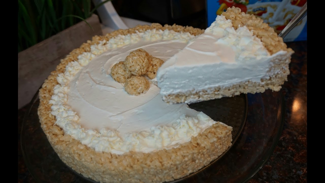 Cream Cheese Rice Crispy Cake