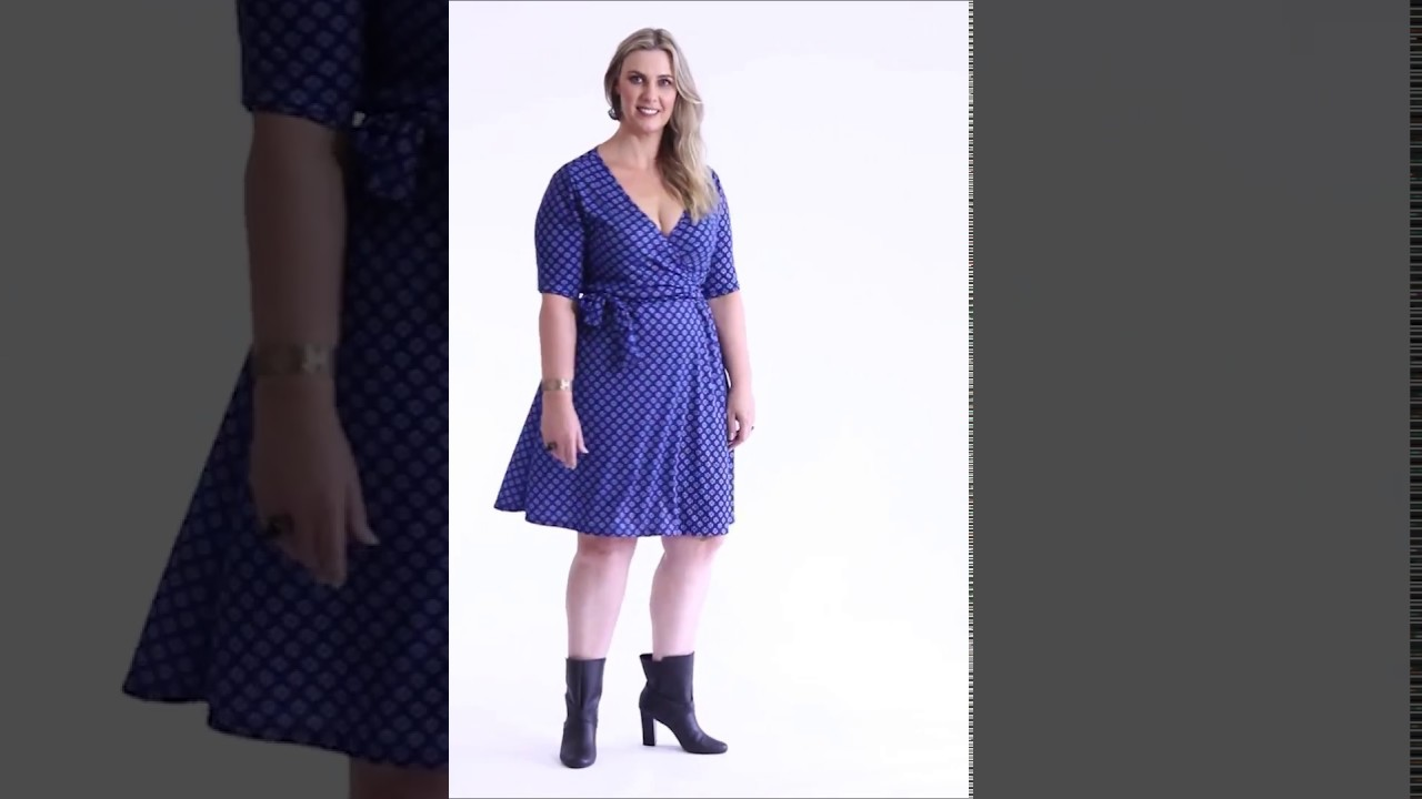 71057aad8e14 Vestido Transpassado Estampa Gravataria Plus Size - Marguerite | Posthaus