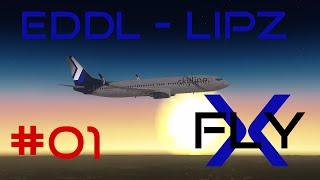 FlyX #01  Düsseldorf - Venedig (SLN B738) [HD]