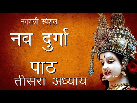 श्री दुर्गा सप्तशती पाठ तीसरा अध्याय   Shree Nav Durga Path -3   Navratri Path   Hindu Rituals